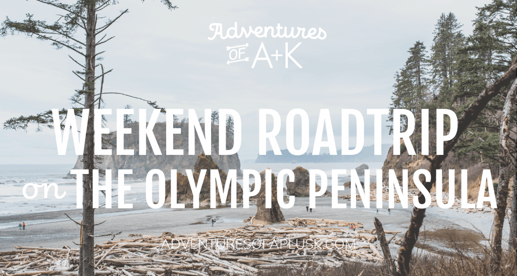 A weekend road trip on the Olympic Peninsula in Washington state. Explore beaches, rainforests, snow-capped mountains, lakes, and waterfalls all in one trip! | Olympic Peninsula Itinerary | #OlympicPeninsula #OlympicNationalPark #TravelGuide #PNW