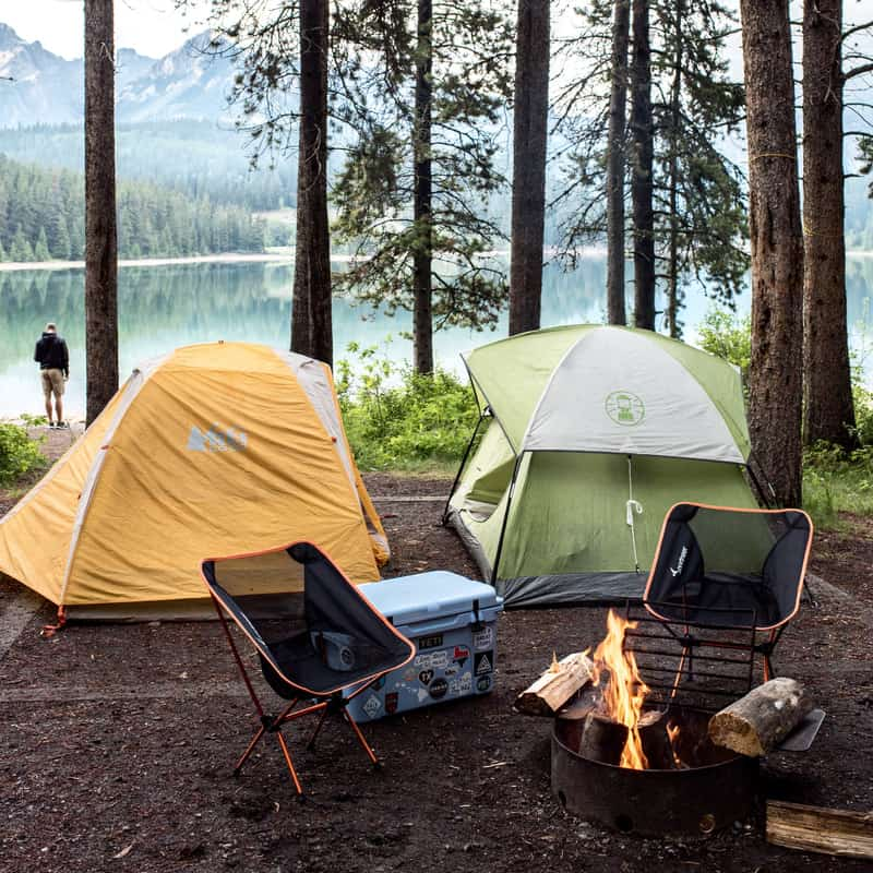 Camping at Banff