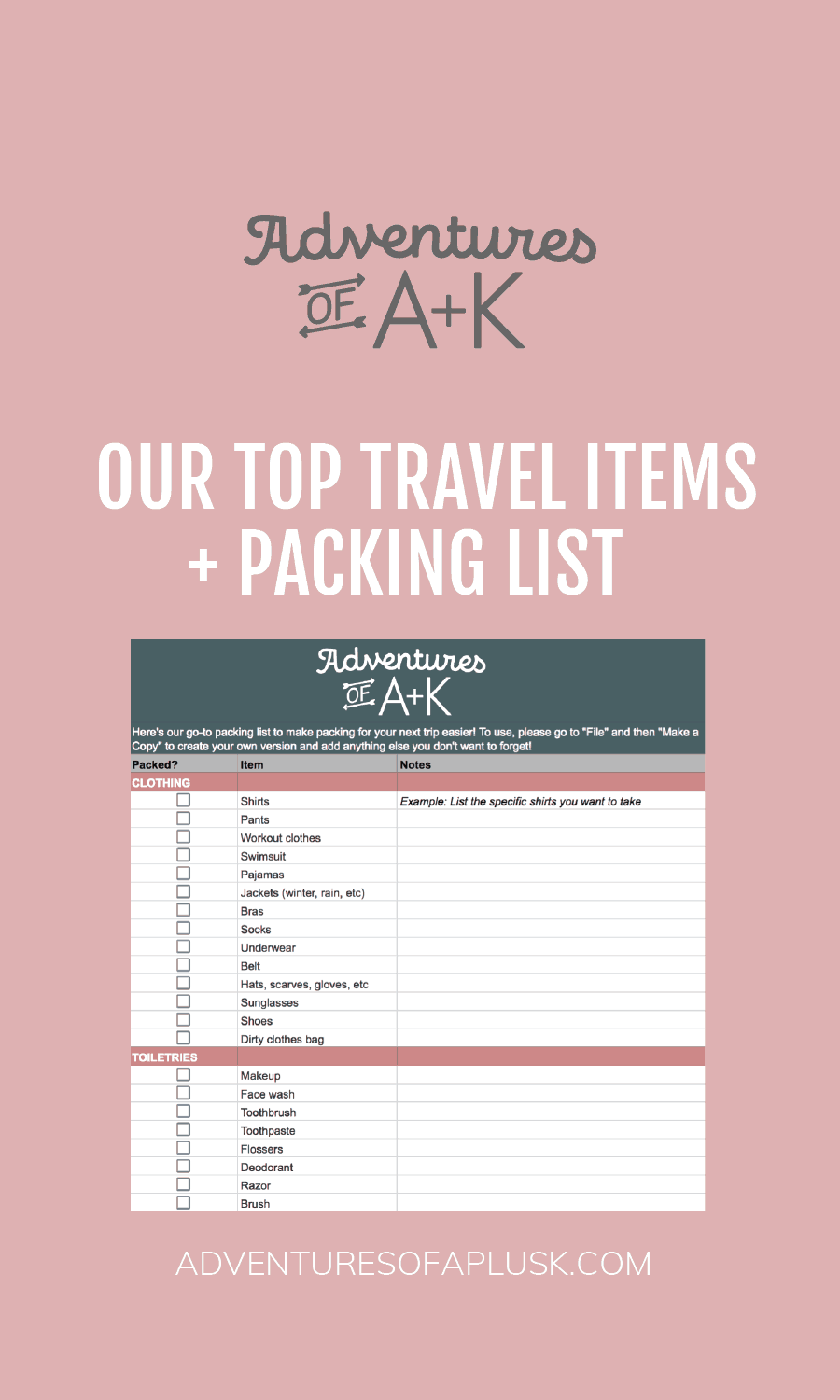 Packing List | Travel Packing | Travel Packing List | What to pack | Packing list for vacation | Travel | Vacation