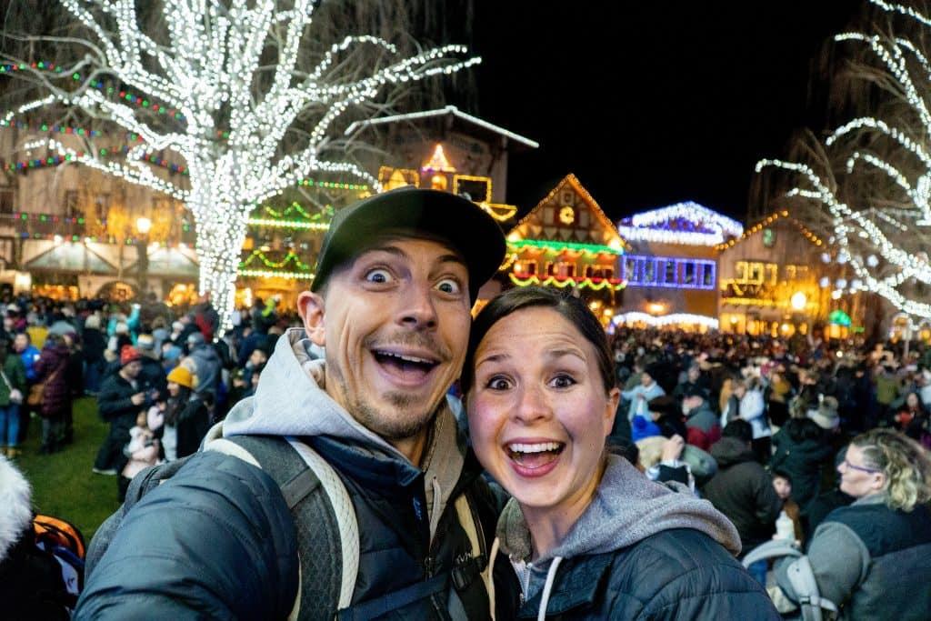 Leavenworth Christmas Lighting Festival | Lake Serene Hike | Christmas Lights | Leavenworth Christmas | Leavenworth Washington | Best Christmas Lights | Things to do Christmas | Best Christmas towns | Best Hikes Washington | Where to Hike Washington | Best Small Towns United States