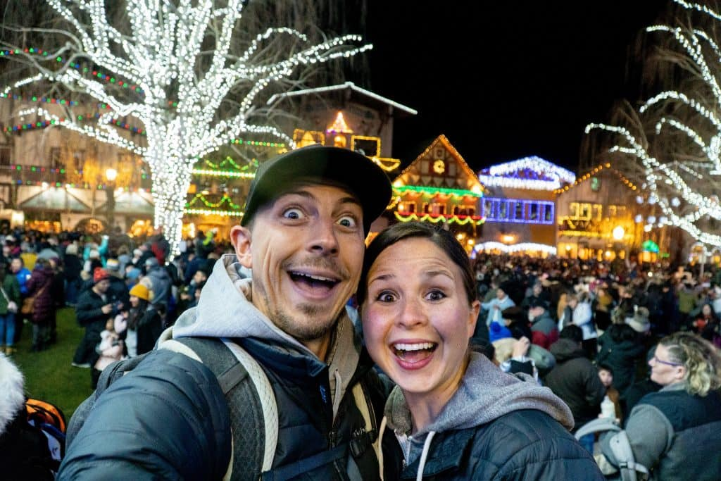 Leavenworth Christmas Lights.Vlog Leavenworth Christmas Lights Snowy Lake Serene