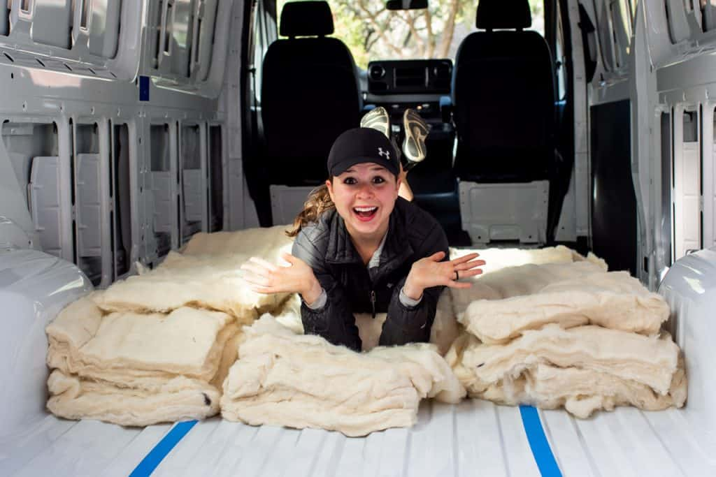 Van Insulation with Havelock Wool