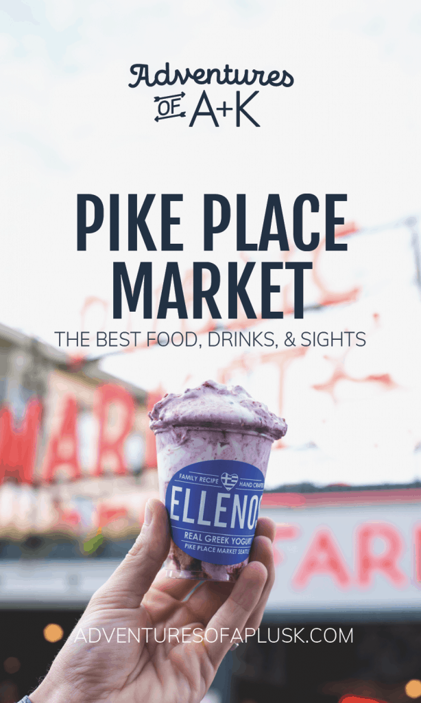 Pike Place Market Seattle | Pike Place Market Food Tour | Must Eat Pike Place Market | Best Food Pike Place Market | Best Food Seattle | Beecher's Mac & Cheese | Piroshky Piroshky | Ellenos Greek Yogurt | Rachel's Ginger Beer | Pike Place Chowder | Pike Place Throwing Fish