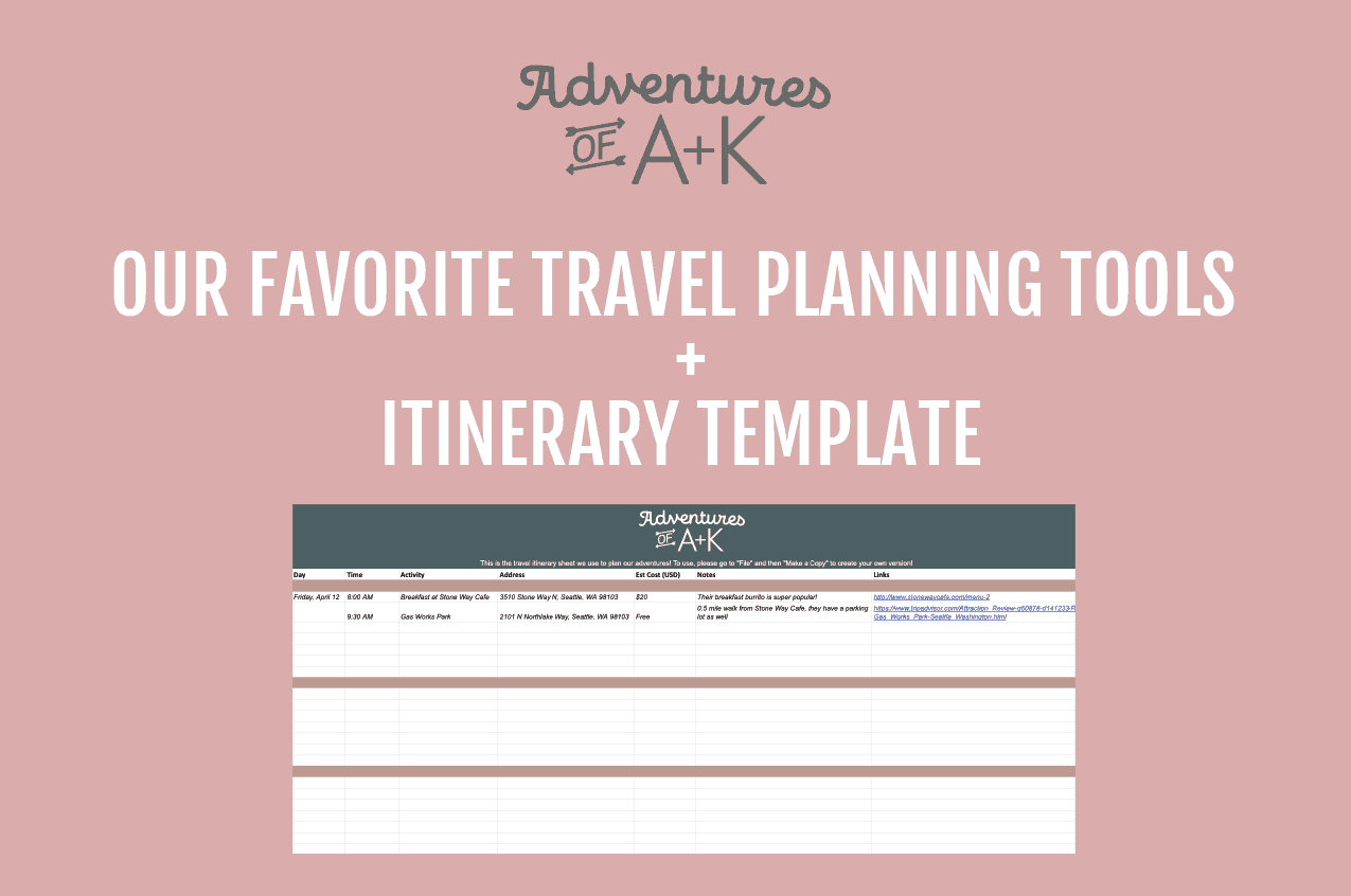 Trip Planning | Travel Itinerary Template | Trip Planning Template | Best tools for trip planning | trip planning tools | itinerary template | travel itinerary