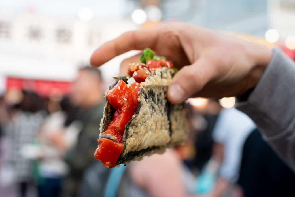 Sushi Nori Taco | Richmond Night Market | Best food Richmond NIght Market | Must eat food Richmond Night Market | Vancouver Night Market | Richmond Night Market Food