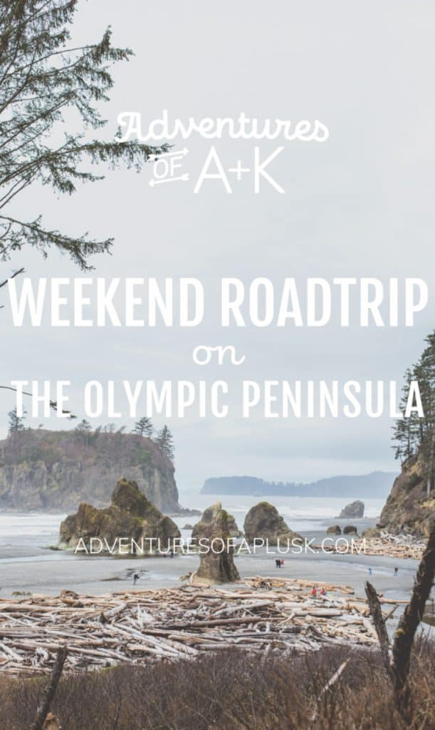 A weekend road trip on the Olympic Peninsula in Washington state. Explore beaches, rainforests, snow-capped mountains, lakes, and waterfalls all in one trip!   Olympic Peninsula Itinerary   Olympic Peninsula Road Trip #OlympicPeninsula #OlympicNationalPark #TravelGuide #PNW