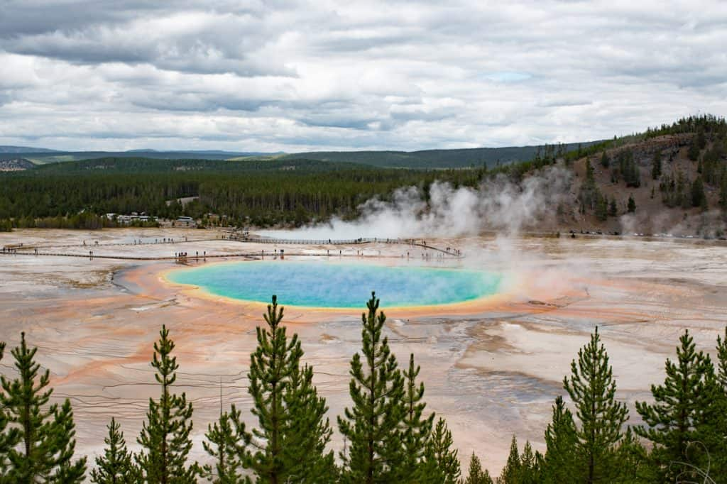Grand Prismatic Spring Yellowstone National Park | 2 Days at Yellowstone