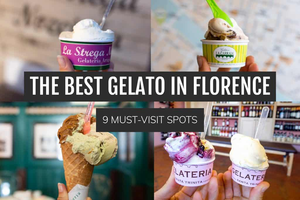 The Best Gelato in Florence | Must try gelato spots in Florence | Where to eat gelato in Florence | Florence gelato | Florence Travel Guide | What to eat in Florence | Best food in Florence | Best gelato in Italy