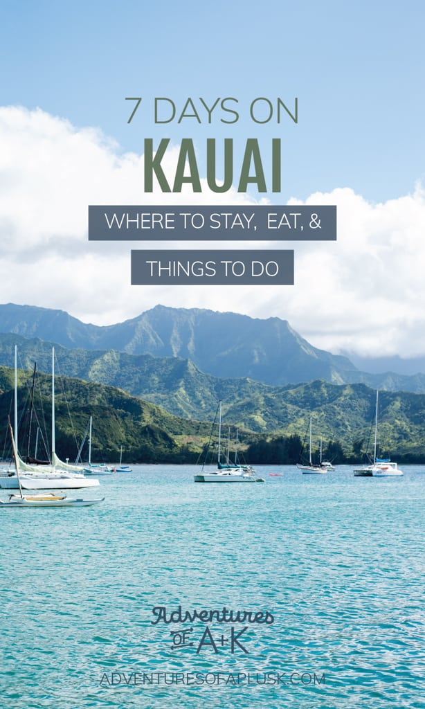 7 Days on Kauai: Kauai Itinerary, Things to do on Kauai, Where to stay on Kauai, Things to do in Kauai, Kauai Things to do, Kauai Hawaii, Island of Kauai, Where to eat in Kauai, Where to eat in Kauai, Kauai Food, Best Food on Kauai, What to do on Kauai, When to visit Kauai, Best time to visit Kauai, Kauai 7 day Itinerary, Kauai hikes
