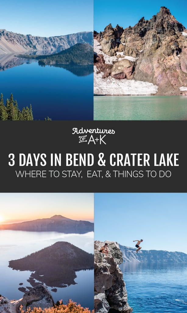 3 Days in Bend and Crater Lake National Park | Things to do in Bend | Things to do at Crater Lake | Crater Lake Guide | Bend Guide | Crater Lake National Park Itinerary | Bend Itinerary | Oregon Travel | Things to do Bend Crater Lake #Bend #CraterLake #Oregon