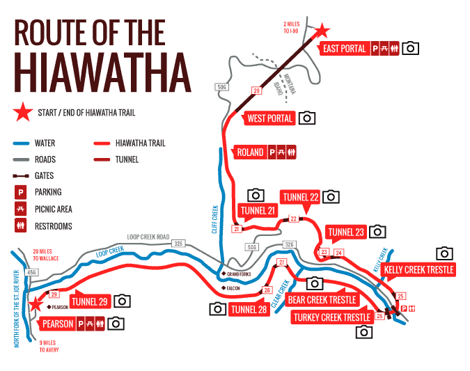 Route of the Hiawatha Map