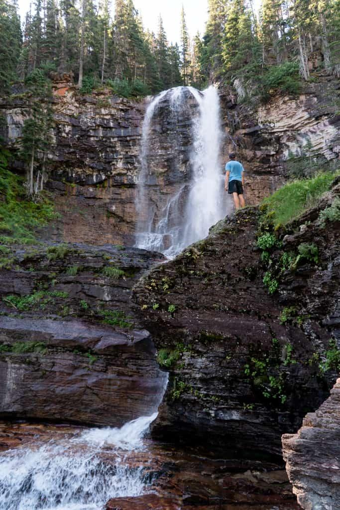 Virginia Falls Glacier National Park itinerary