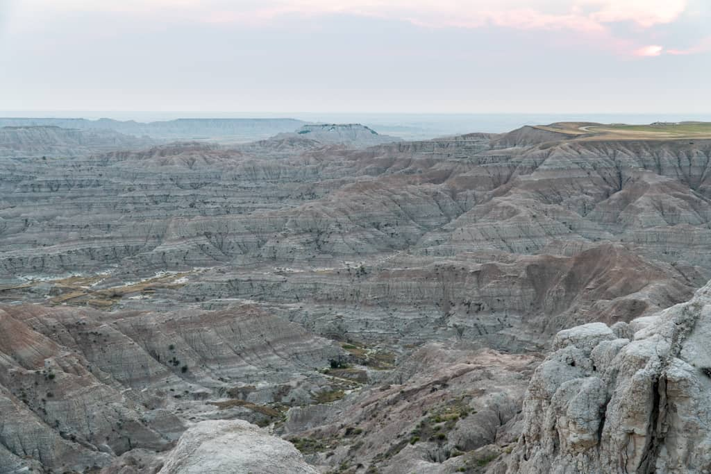 Sunset at Badlands National Park