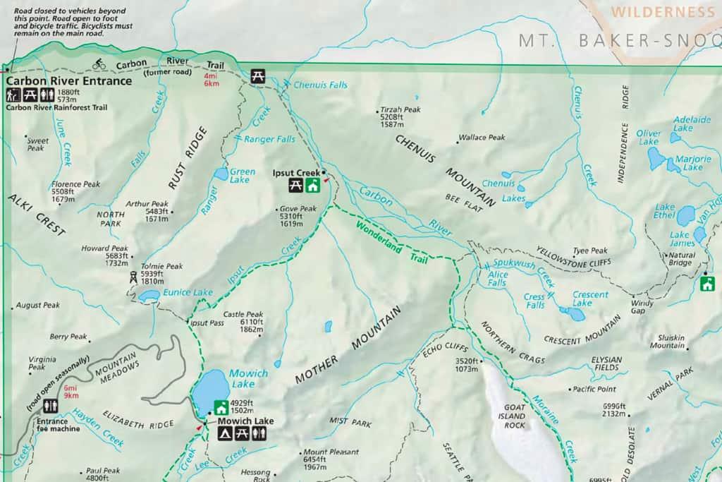 Carbon River Mount Rainier