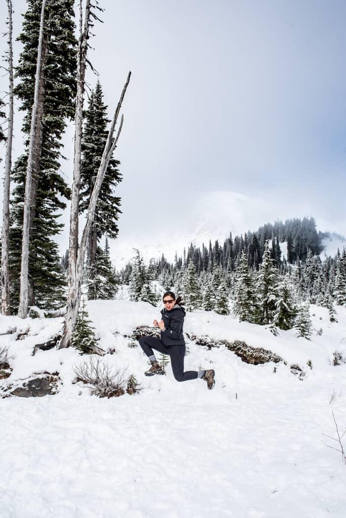 Mount Rainier winter