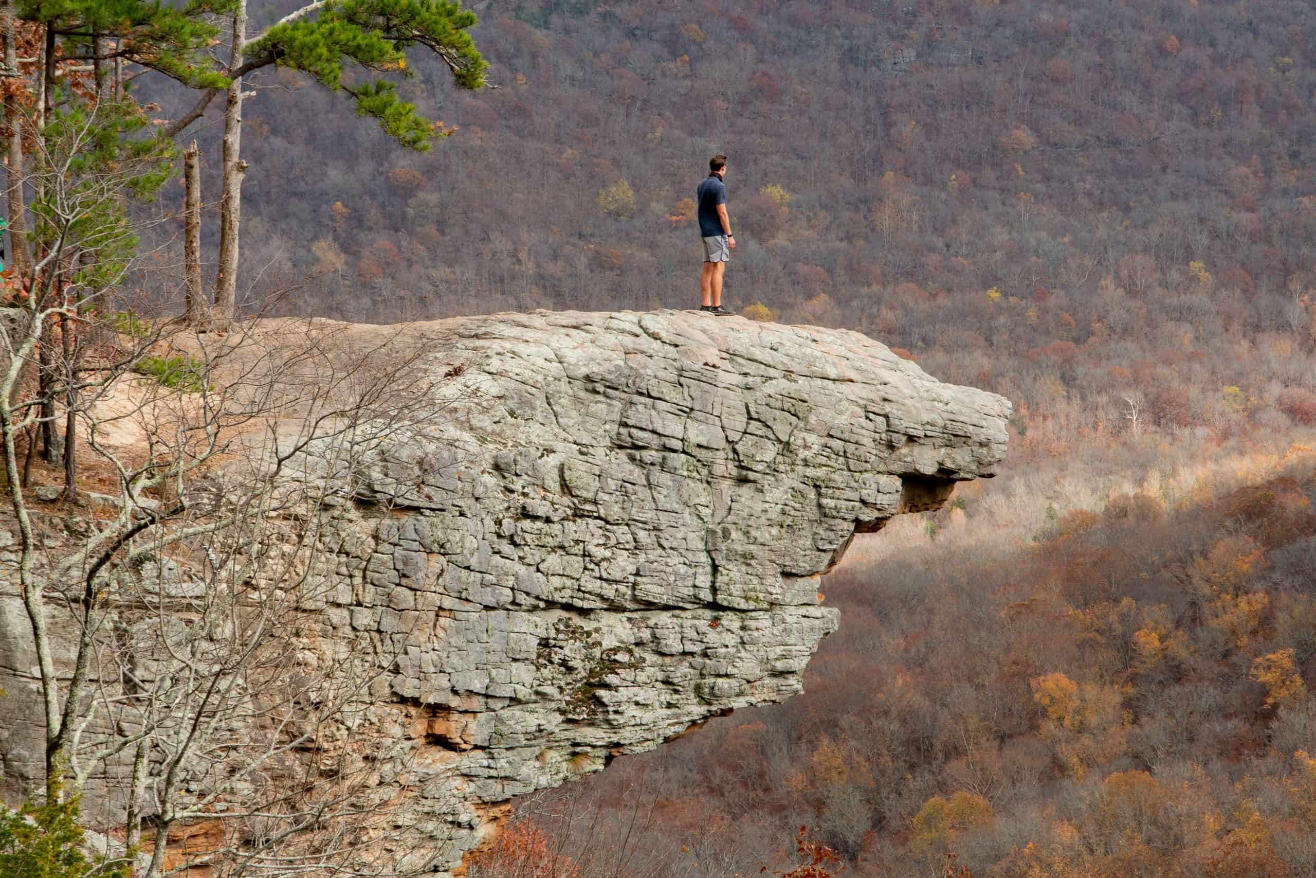 Hiking the Whitaker Point Trail to Hawksbill Crag in Arkansas