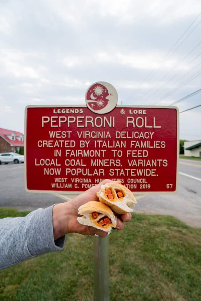 Pepperoni Roll West Virginia