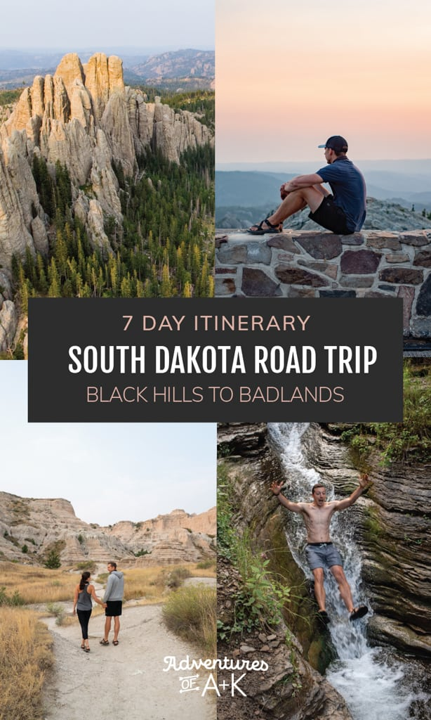 7 Day South Dakota Road Trip Itinerary: Black Hills to Badlands | The best things to do in South Dakota | Where to go in South Dakota | Things to do in the Black Hills | Things to do in Badlands National Park | Things to do in Spearfish Canyon | Things to do in Deadwood | Things to do in Rapid City | Where to stay in the Black Hills | Best Hikes in South Dakota | Where to eat in South Dakota