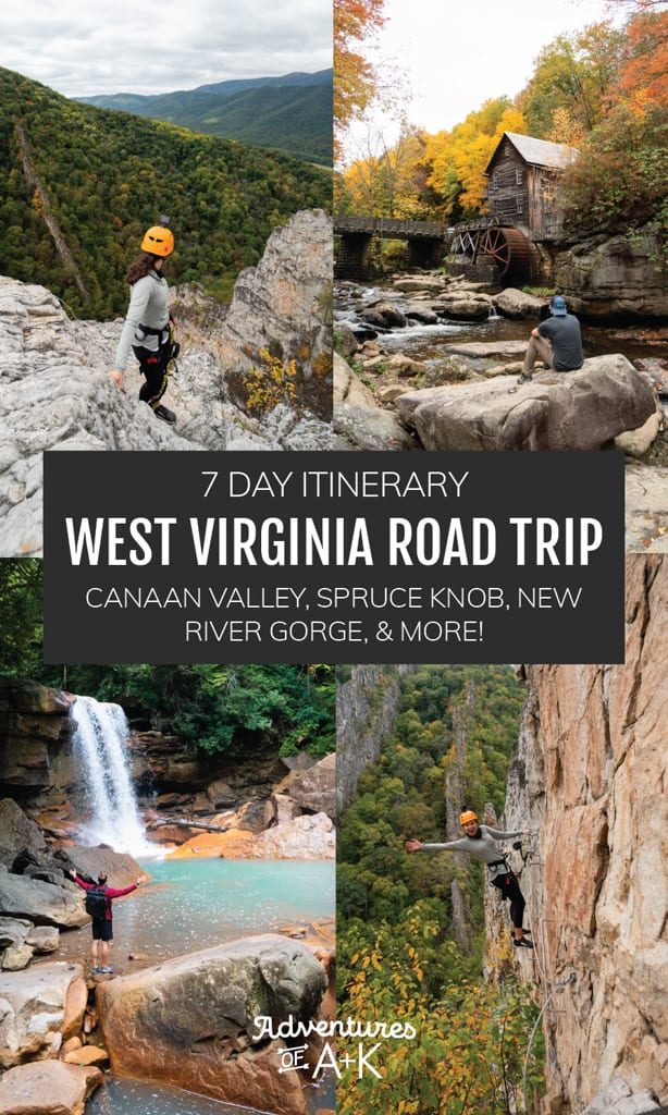 West Virginia Road Trip | West Virginia Itinerary, Things to do in West Virginia, Where to go in West Virginia, When to visit West Virginia, Where to stay in West Virginia, New River Gorge, Canaan Valley, Spruce Knob, NROCKS Via Ferrata, Blackwater Falls State Park, Things to do at Blackwater Falls, Seneca Rocks, Fayetteville West Virginia, Hikes in the New River Gorge, Dolly Sods, Things to do in the New River Gorge, Charleston West Virginia