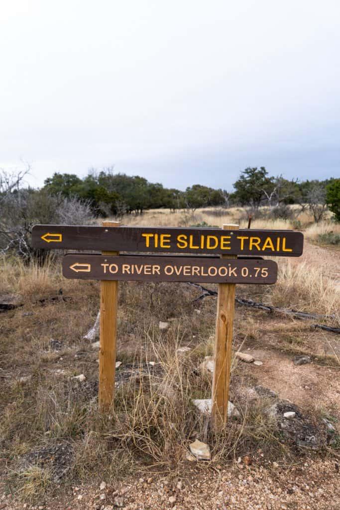 Tie Slide Trail Colorado Bend State park