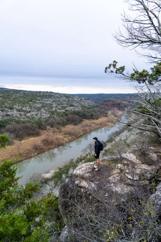 Tie Slide Trail Overlook at Colorado Bend State Park
