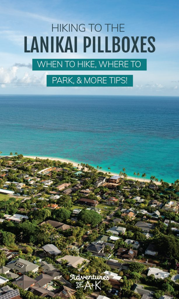 Hiking to the Lanikai Pillbox: Everything you need to know before conquering the Lanikai Pillbox Hike, one of the best things to do on Oahu, including where to park, when to hike, the trail stats, and more!