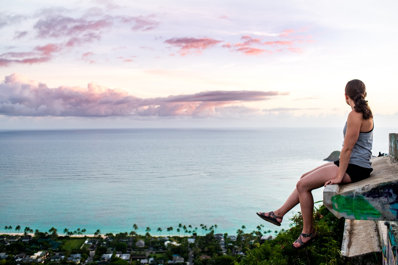 Hiking to the Lanikai Pillboxes on Oahu: Where to park, when to hike, & more tips!