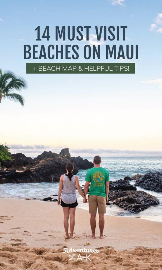 The 14 Best Beaches on Maui Hawaii, including Wailea Beach, Ka'anapali Beach, Secret Cove, Ho'okipa Beach, Red Sand Beach Maui, Black Sand Beach Maui, Kapalua Bay, and more! (Maui Beaches, Best Beach Maui)