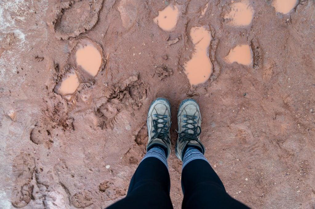 Toadstool Hoodoo trail after rain