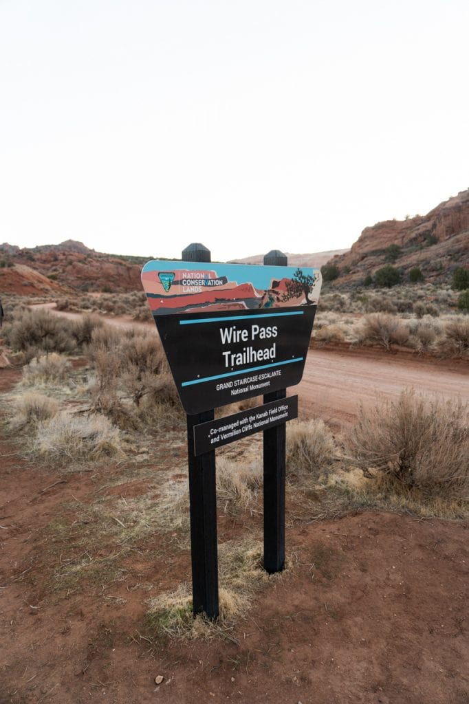 Wire Pass Trailhead