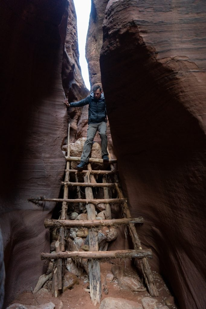 Wire Pass Slot Canyon Ladder