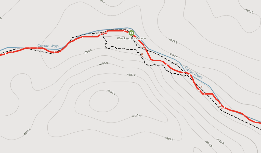 Wire Pass to Buckskin Gulch Map