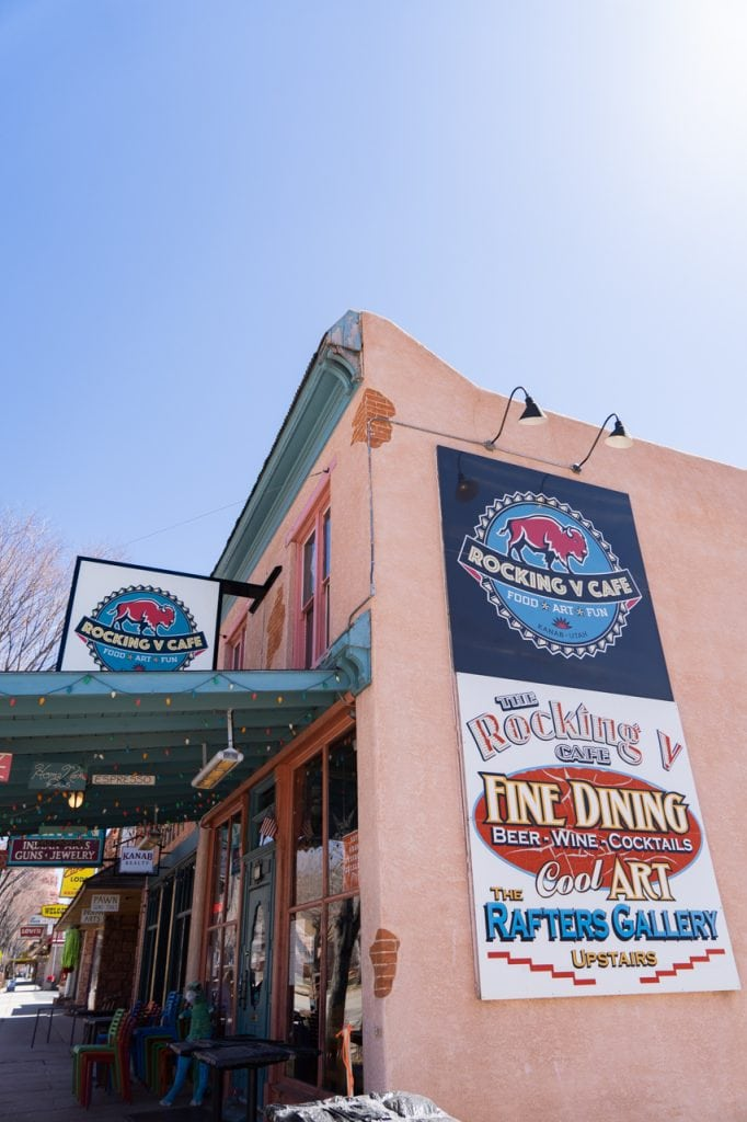 Rocking V Cafe in Kanab Utah