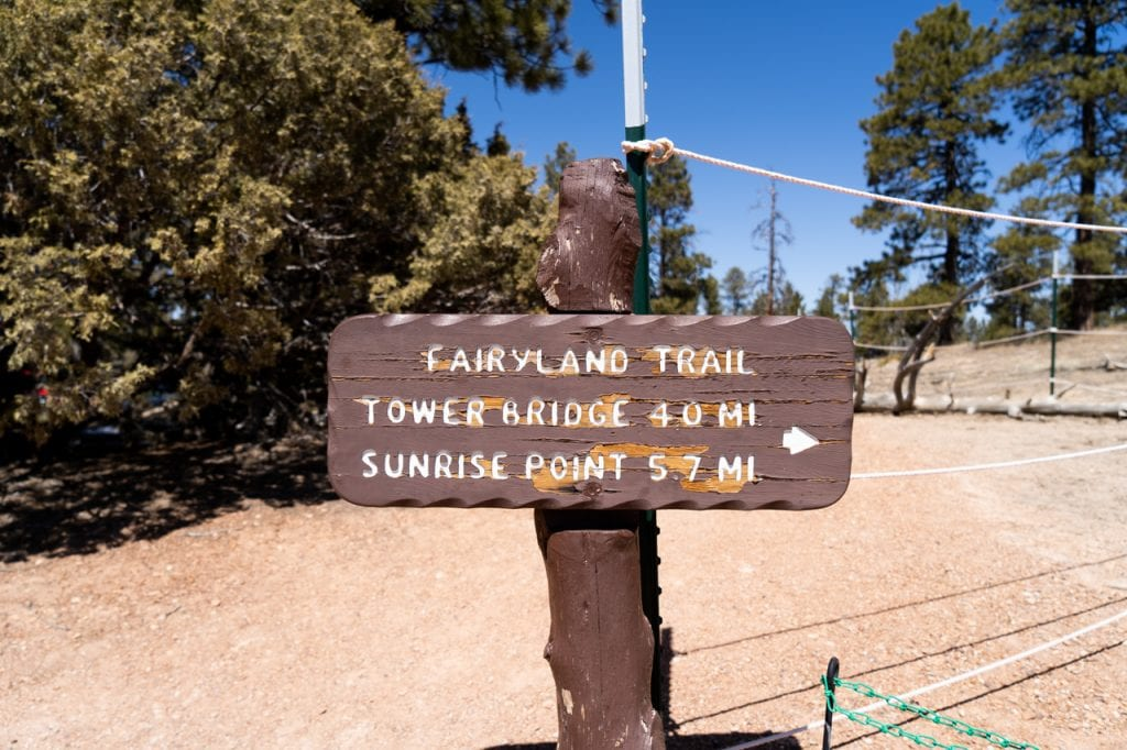 Rim Trail Fairyland Loop Trail