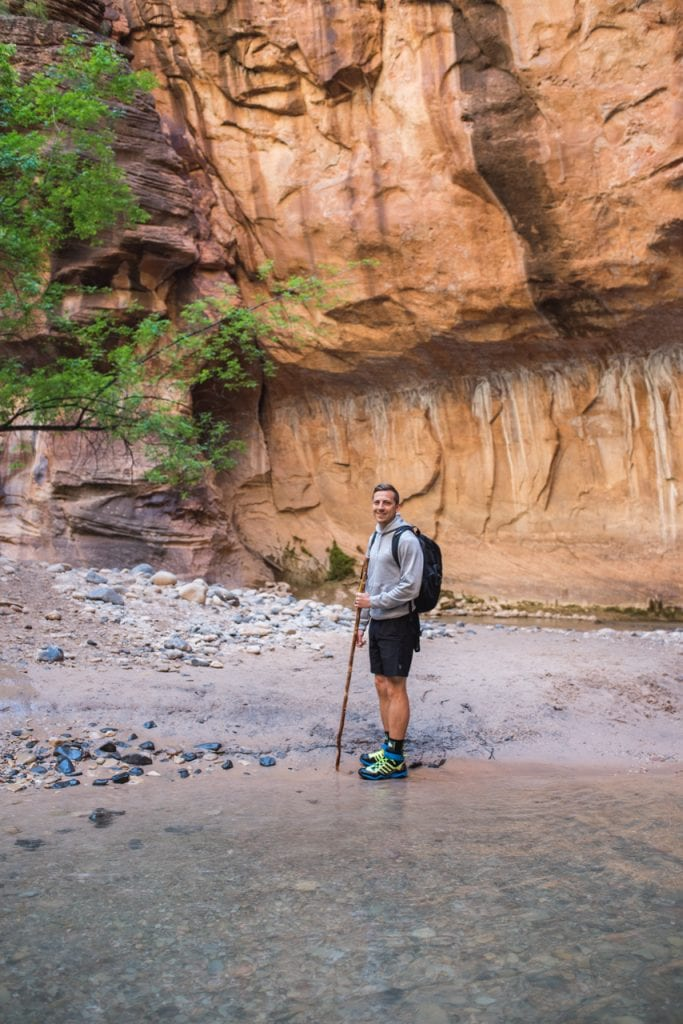Hiking the Narrows at Zion National Park