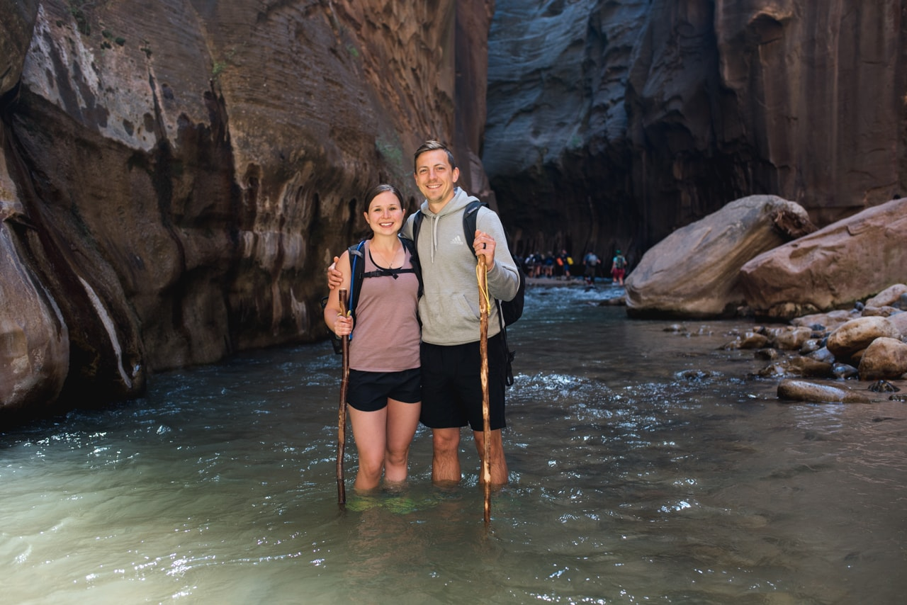 Hiking the Narrows at Zion National Park: route options, how to get to the trail, gear, and everything else you need to know!