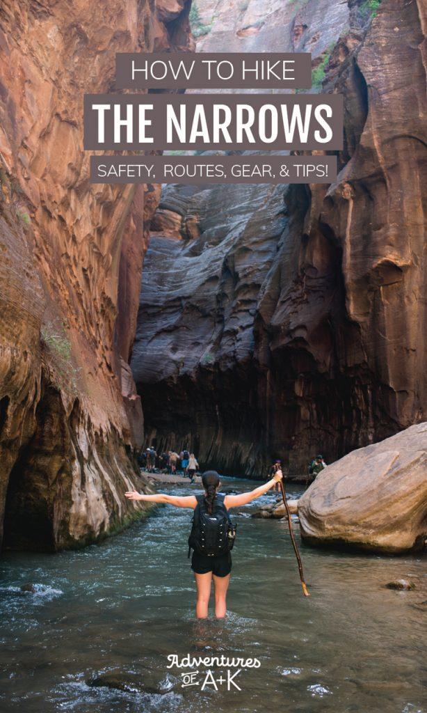 Hiking the Narrows at Zion National Park: route options, safety, how to get to the trail, gear, and everything else you need to know!