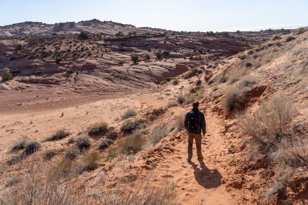 Walking to Spooky Slot Canyon