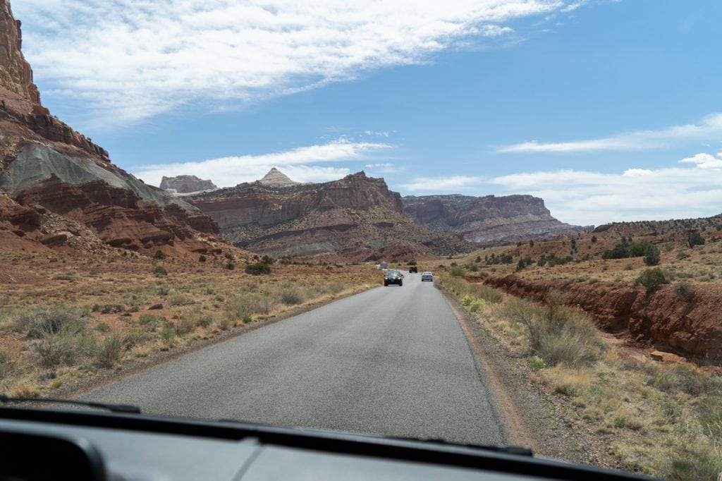 Scenic Drive Capitol Reef National Park