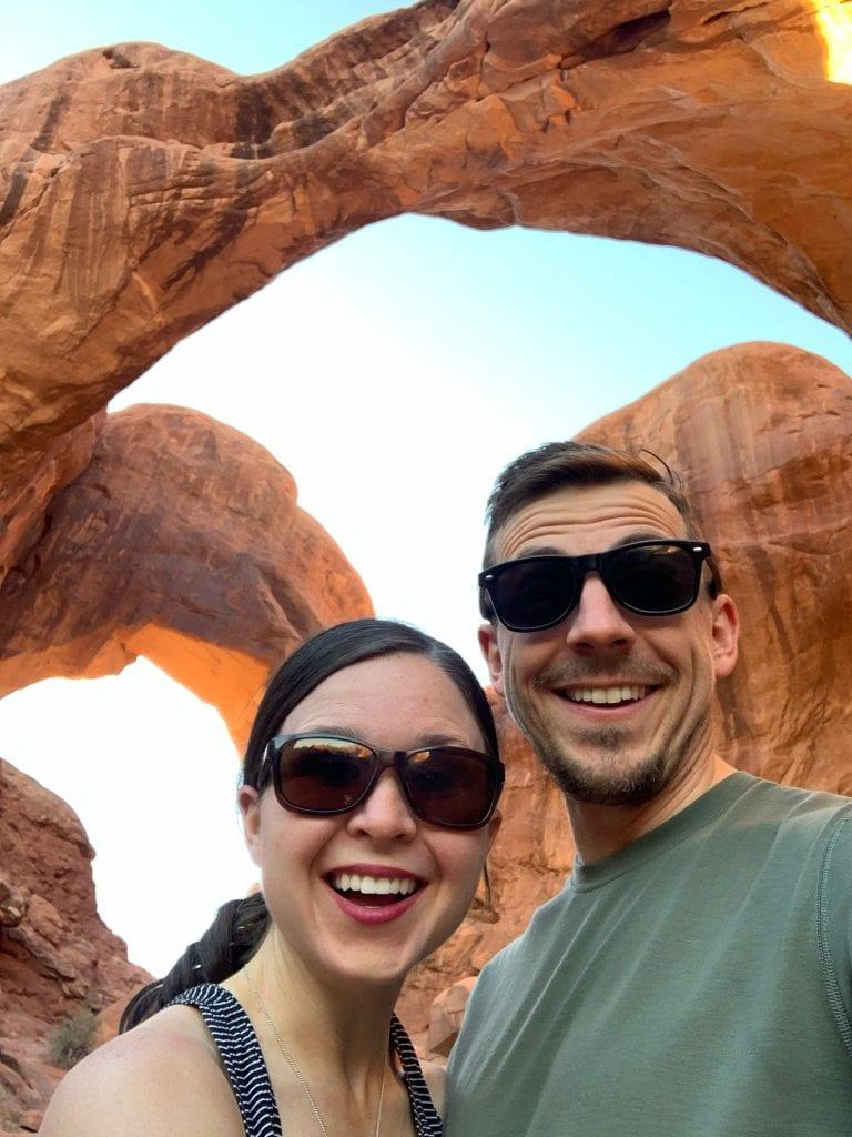 Double Arch Arches National Park