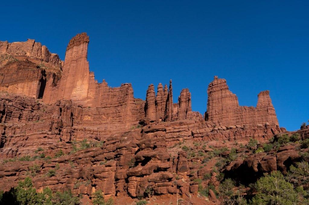 Fisher Towers in Moab, Utah