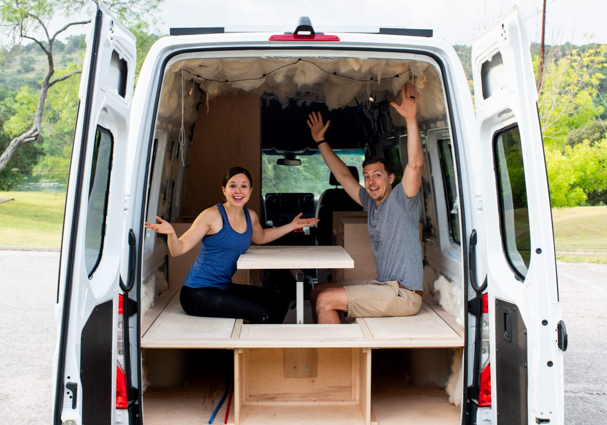 Van conversion | Van life couple | Van conversion drawers | Van conversion Lagun table