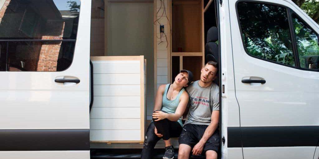 Van Conversion Shower Build + Headliner Shelf